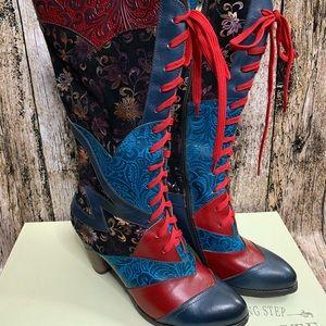 Spring Step L'Artiste Malagie Blue Multi Boot